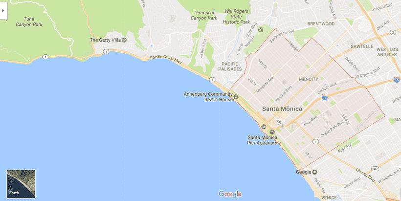 Onde Ficar Em Santa Mônica: Mapa