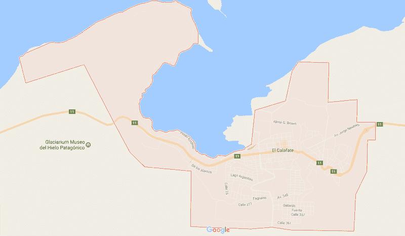 Onde Ficar em El Calafate: Mapa