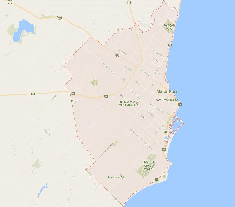 Onde Ficar em Mar del Plata: Mapa