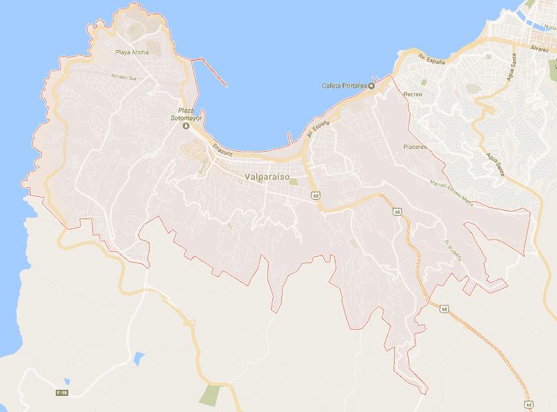 Onde Ficar em Valparaíso: Mapa
