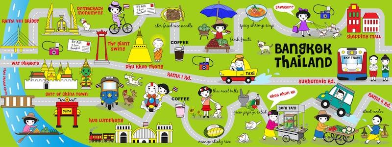 Onde Ficar Em Bangkok: Mapa