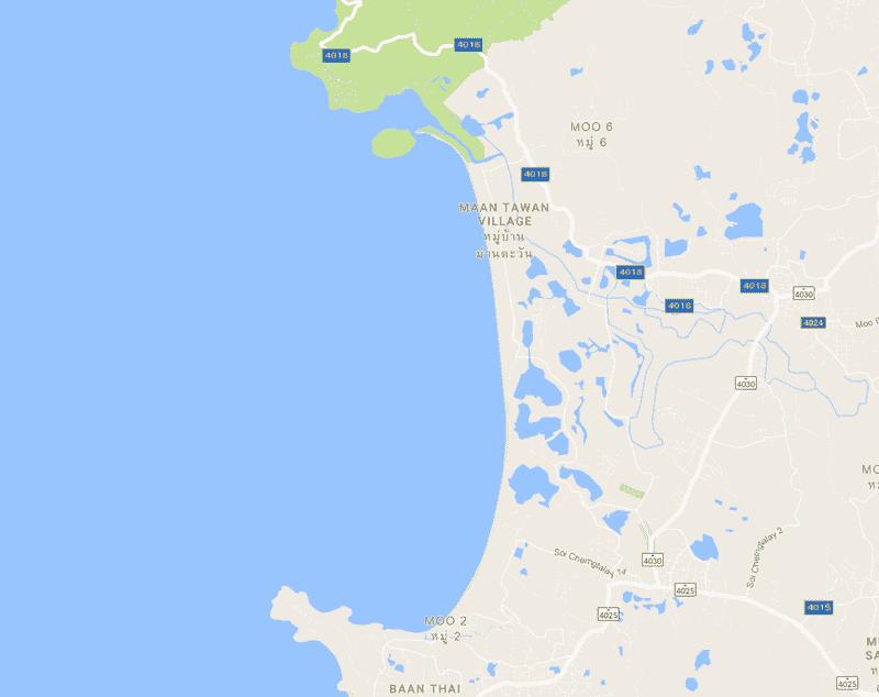Onde Ficar Em Bang Tao: Mapa