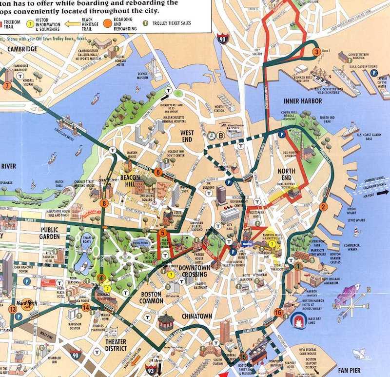 Onde Ficar Em Boston: Mapa