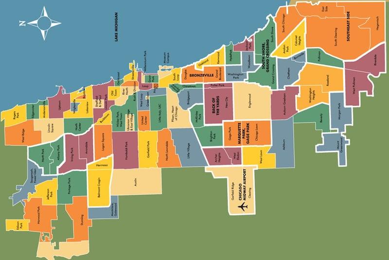 Onde Ficar Em Chicago: Mapa