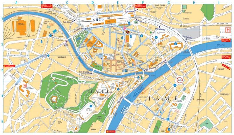 Onde Ficar em Namur na Bélgica: Mapa