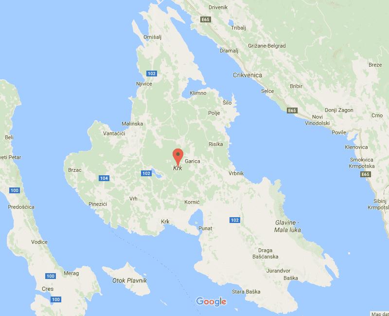 Onde Ficar na Ilha Krk: Mapa