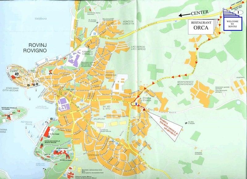 Onde Ficar em Rovinj: Mapa