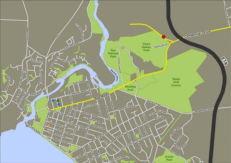 Onde Ficar em Taupo: Mapa
