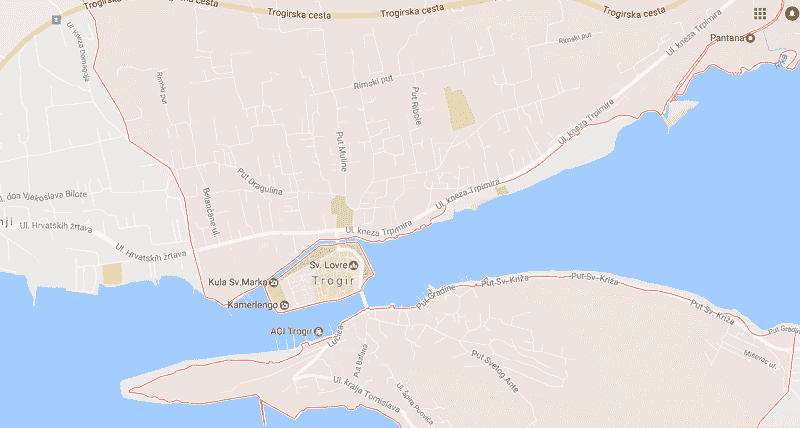 Onde Ficar em Trogir: Mapa