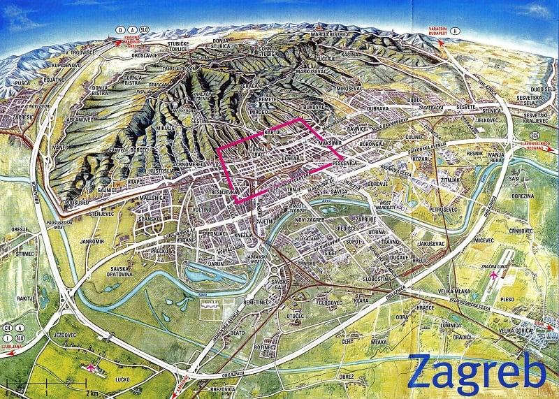 Onde Ficar em Zagreb: Mapa