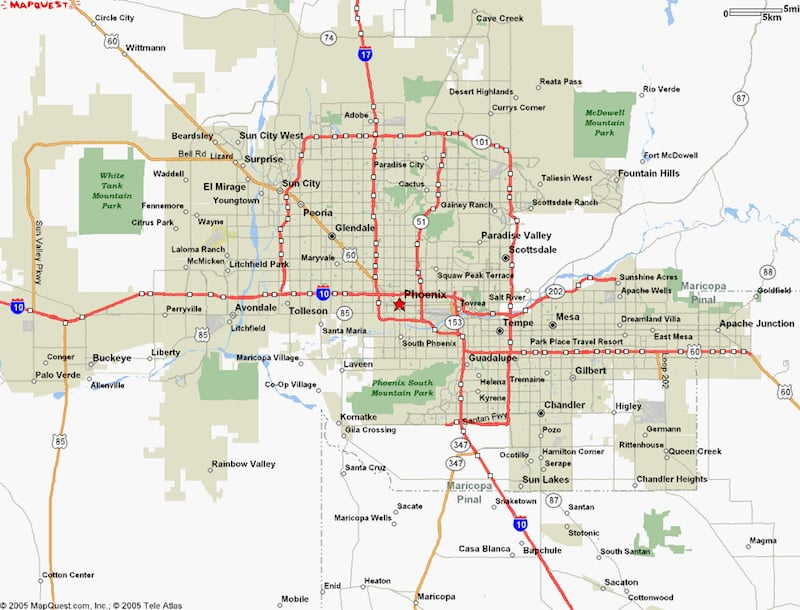 Onde Ficar Em Phoenix: Mapa