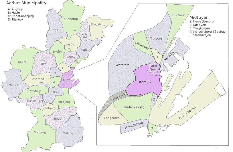 Onde Ficar em Aarhus: Mapa