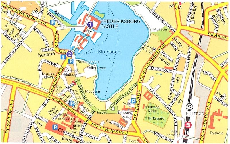 Onde Ficar em Hillerod na Dinamarca: Mapa