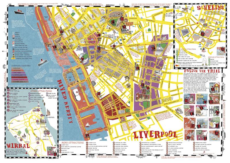 Onde Ficar em Liverpool na Inglaterra: Mapa