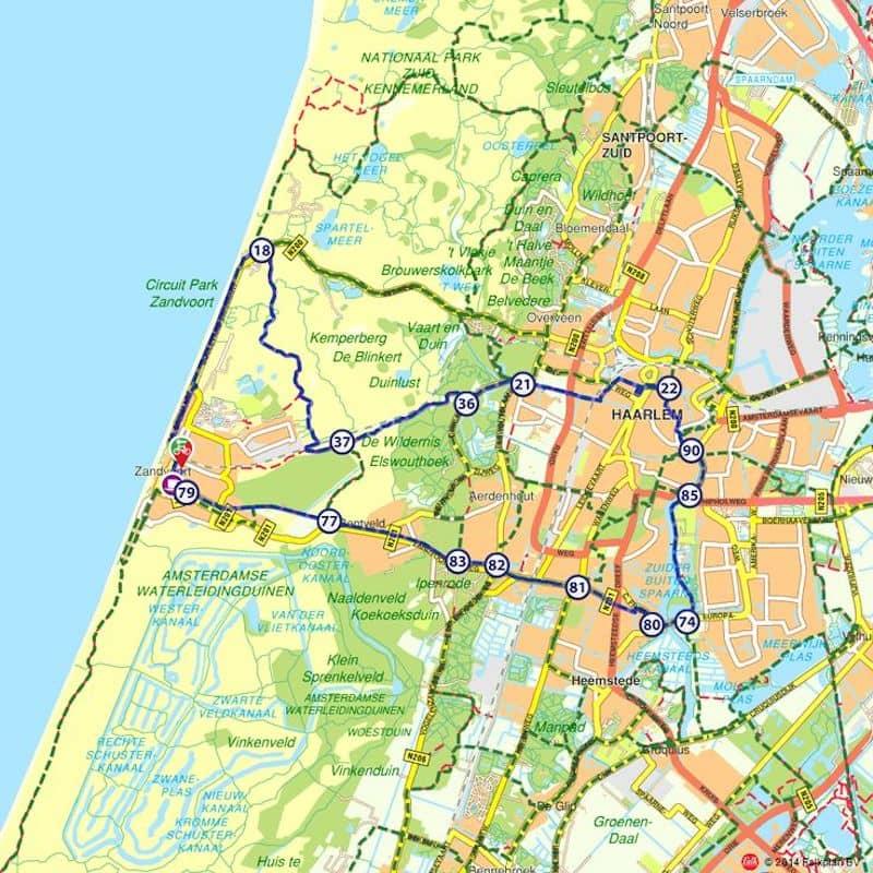 Onde Ficar em Zandvoort na Holanda: Mapa