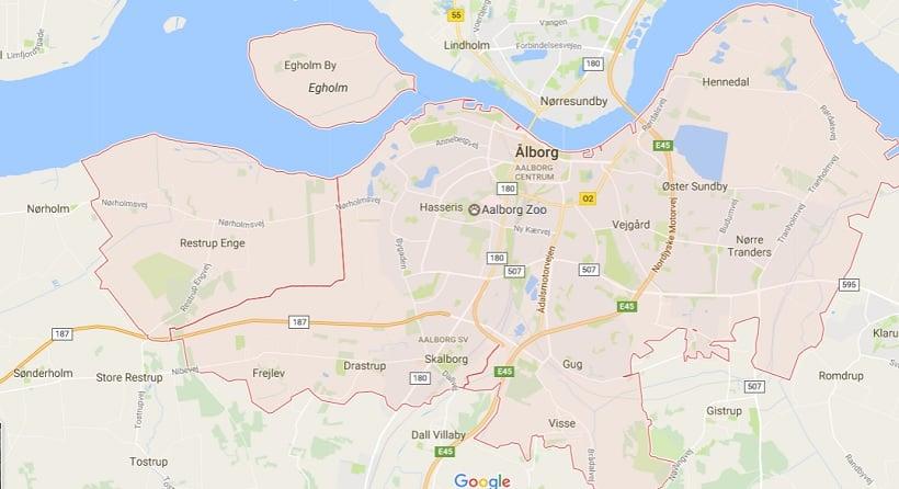 Onde Ficar em Aalborg: Mapa