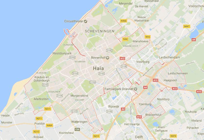 Onde Ficar em Haia na Holanda: Mapa