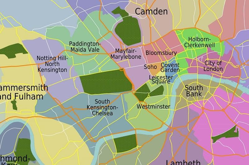 Londres Onde Ficar Mapa
