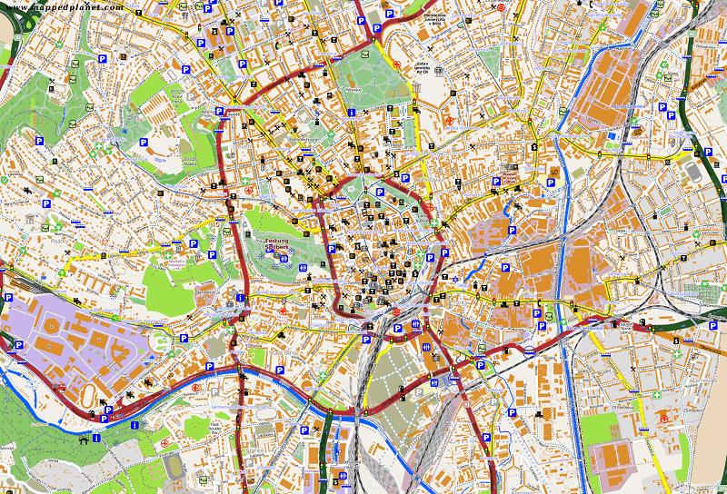 Onde Ficar em Brno: Mapa