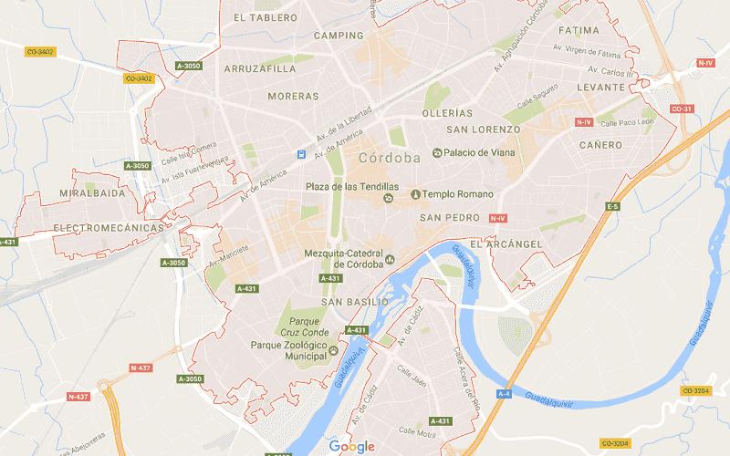Onde Ficar em Córdoba: Mapa