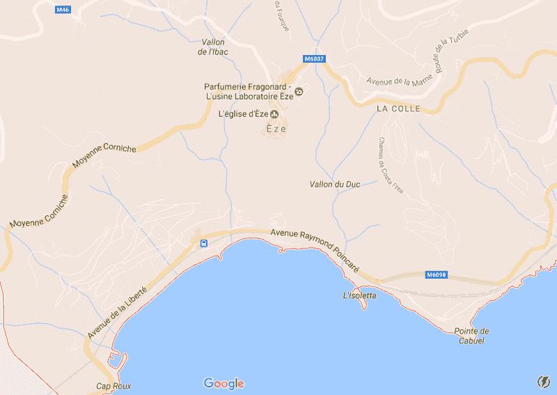 Onde Ficar em Èze: Mapa