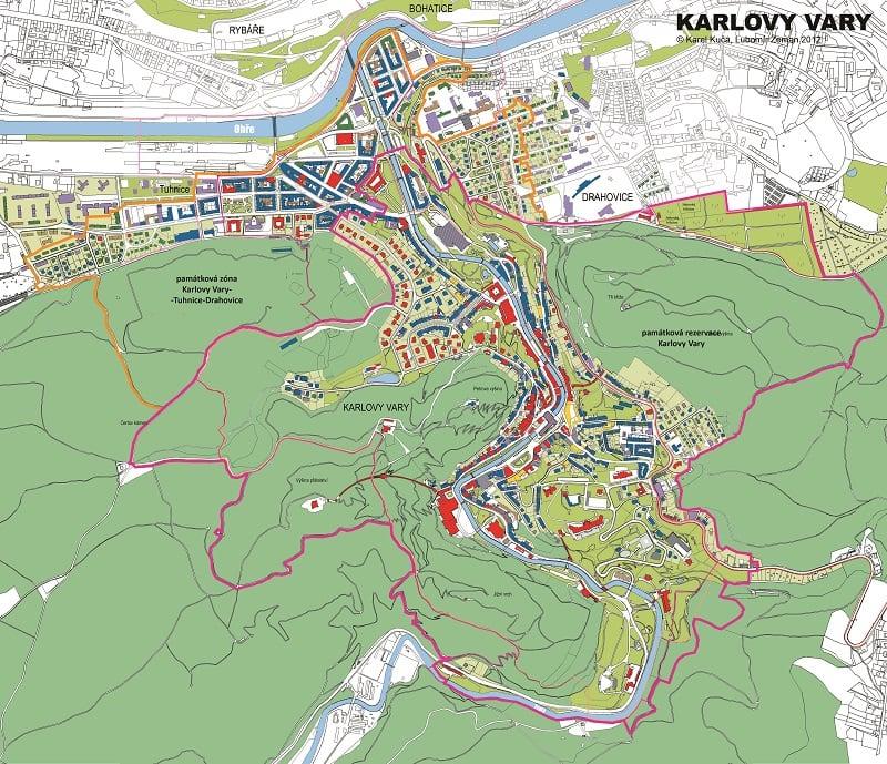 Onde Ficar Karlovy Vary: Mapa