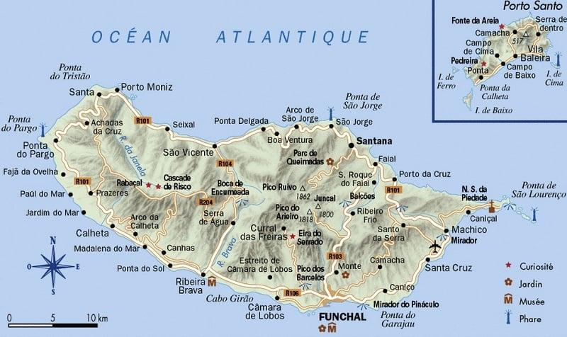 madeira mapa Onde Ficar em Madeira em Portugal   Onde Ficar Em Sua Viagem madeira mapa