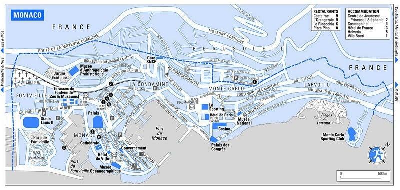 Onde Ficar em Mônaco: Mapa