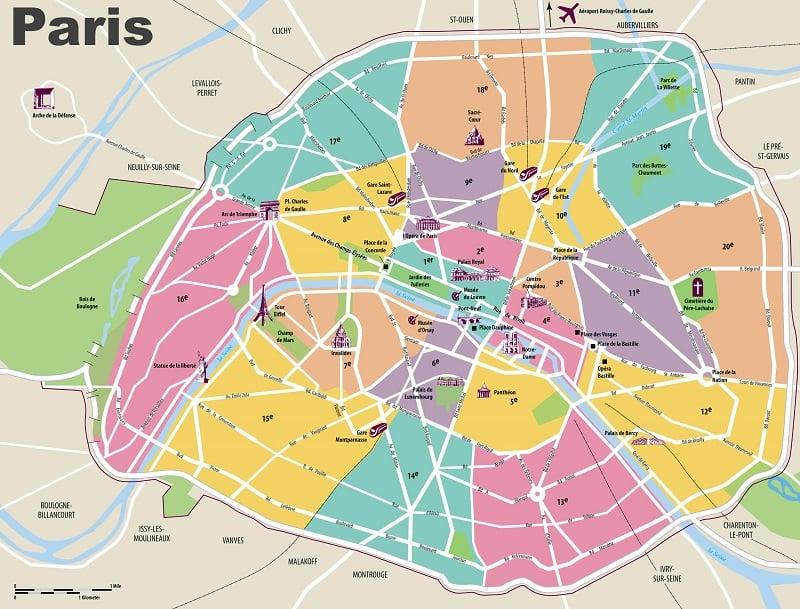 Onde Ficar em Paris: Mapa