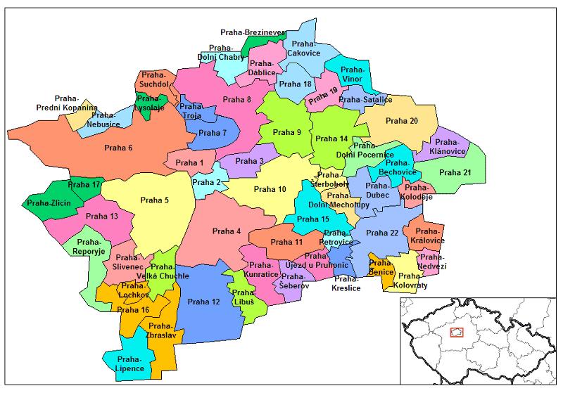 Onde Ficar em Praga: Mapa