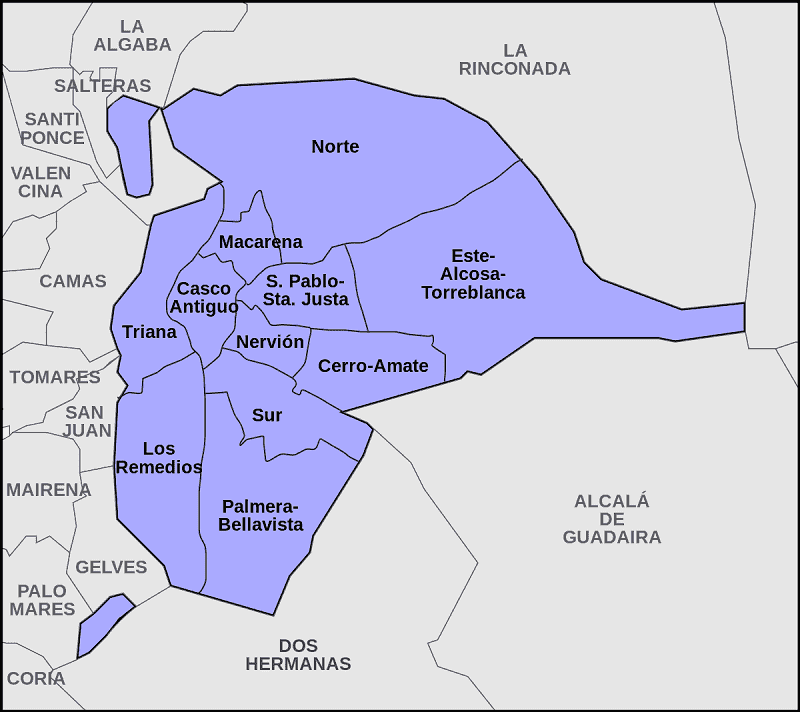 Onde Ficar em Sevilha: Mapa