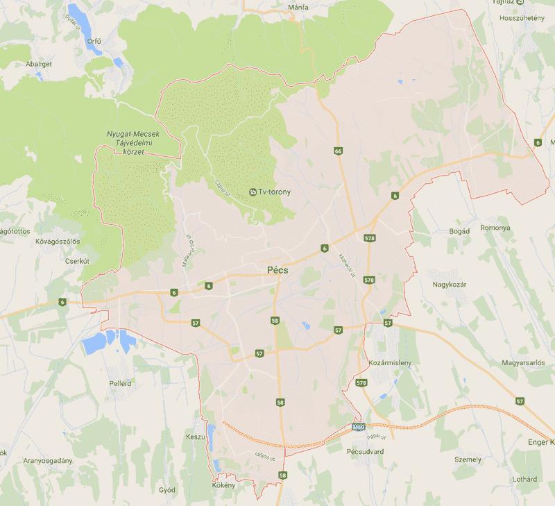 Onde Ficar em Pécs na Hungria: Mapa