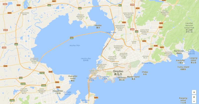 Onde Ficar em Qingdao: Mapa