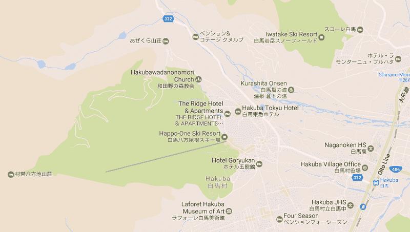 Onde Ficar em Hakuba: Mapa