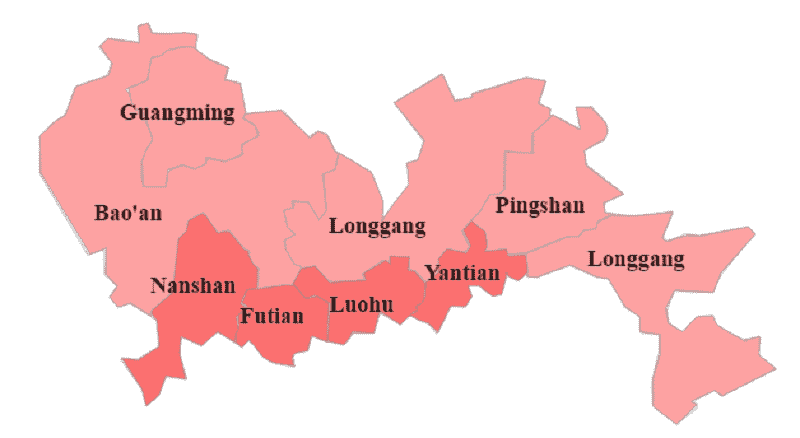Onde Ficar em Shenzhen: Mapa