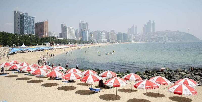 Onde Ficar em Busan na Coréia do Sul: praia de Haeundae