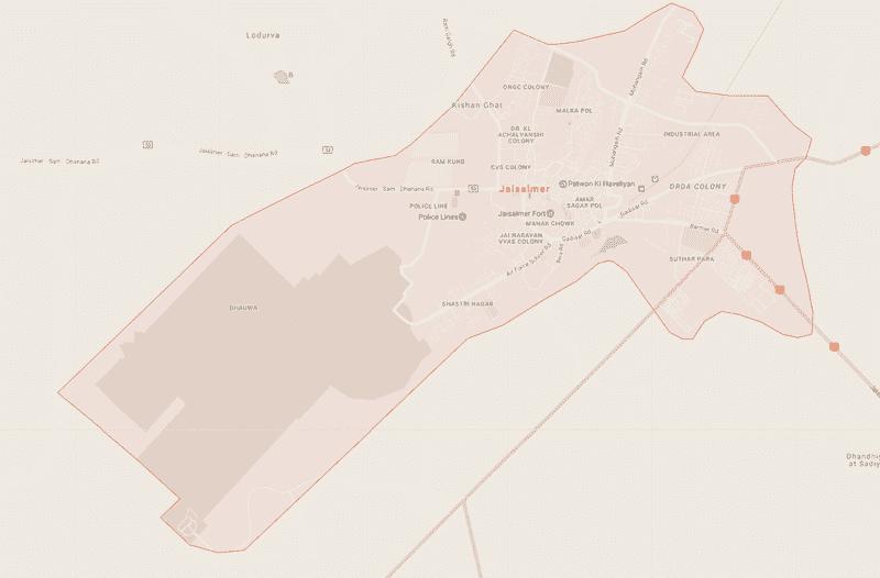Onde Ficar em Jaisalmer na Índia: Mapa