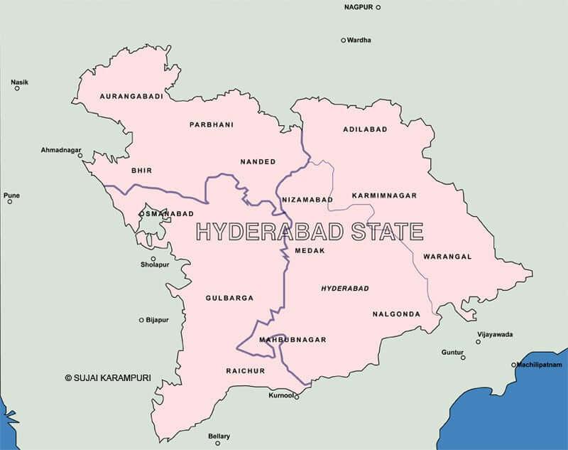 Onde Ficar em Hyderabad na Índia: Mapa