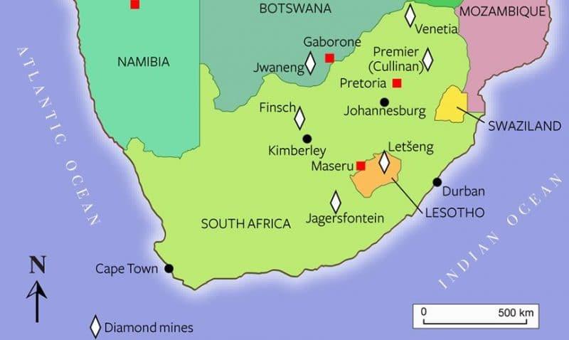 Onde Ficar em Kimberley na África do Sul: Mapa
