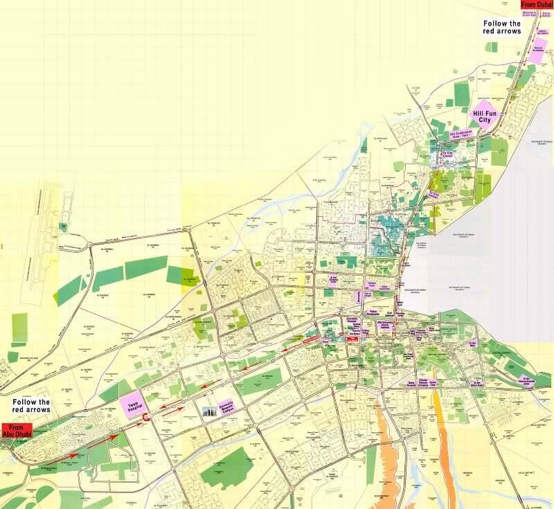 Onde Ficar em Al Ain: Mapa